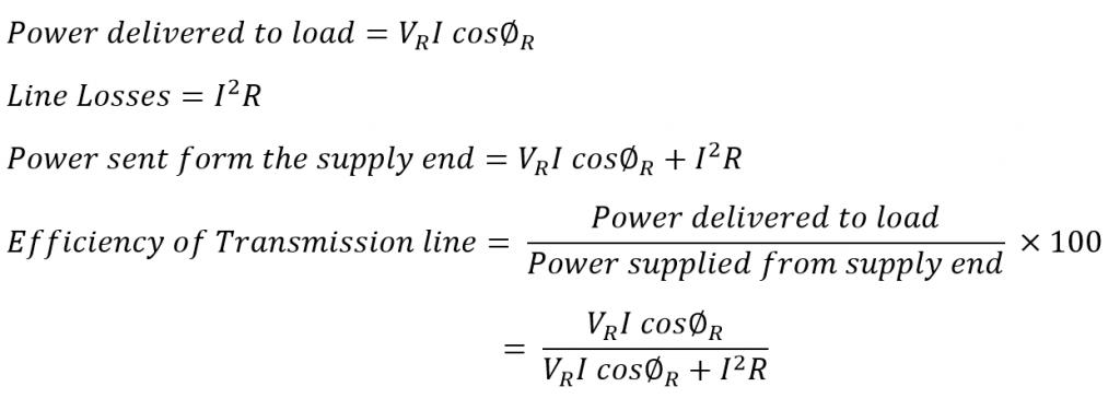 Efficiency of Short Transmission Lines