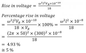 Ferranti effect on long transmission line