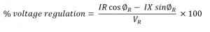 Voltage Regulation for Short Transmission Lines