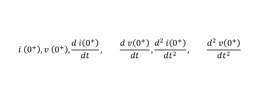 Initial Condition for Second Order Differential Term Equation