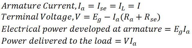 Series DC Generator Equation