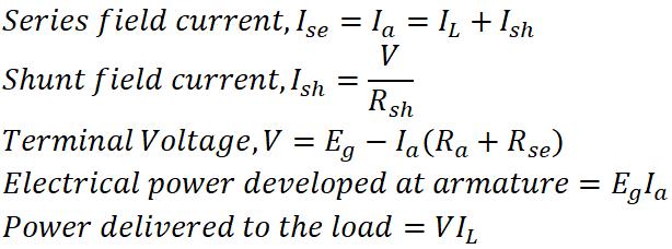 Compound DC Generator Equation