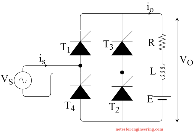 Single-Phase Full Converter With RLE Load